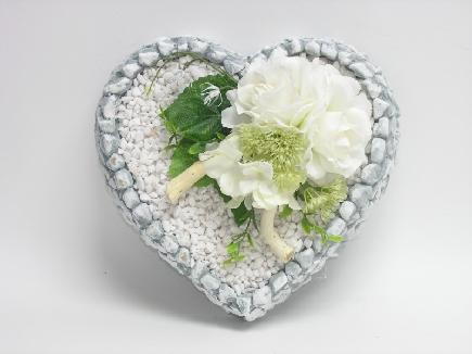 7546 Aranžmán betón srdce